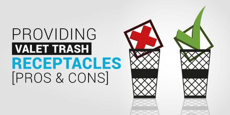 Valet Trash Receptacles