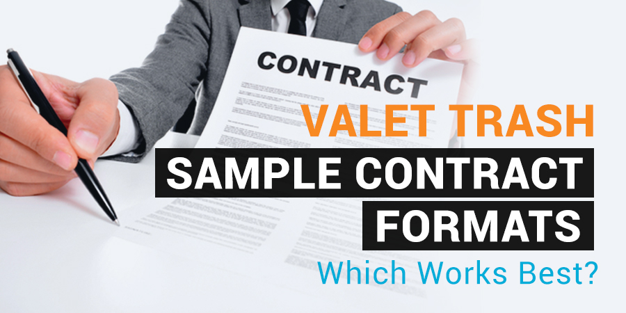 valet waste sample contract