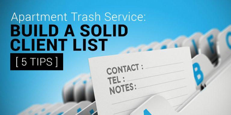 Apartment Trash Service
