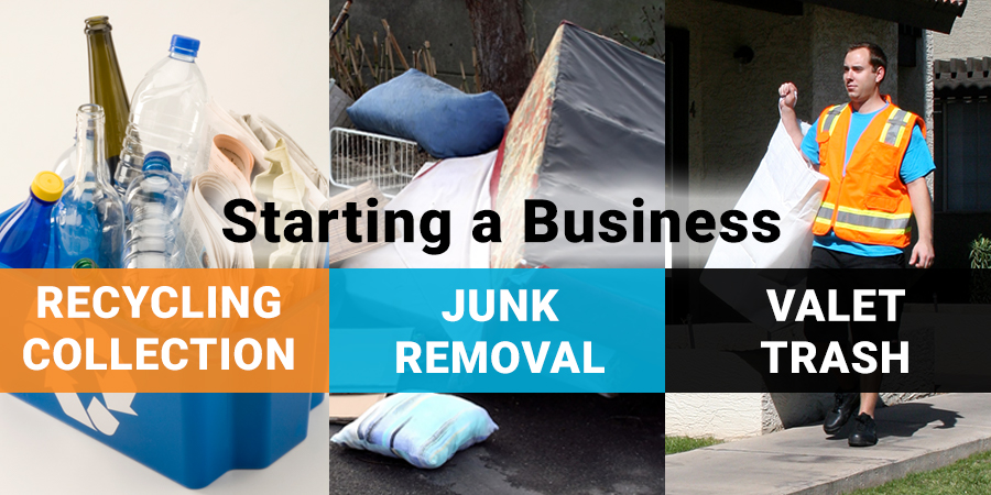 How to Start a Recycling junk removal or valet trash business